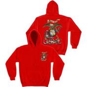 Marines USMC Semper Fi Sweatshirt by Erazor Bits, Red, XL