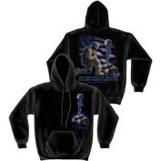 Soldiers Cross Sweatshirt by Erazor Bits, Black, 2XL