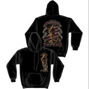 """This We'll Defend"" American Soldier Sweatshirt by Erazor Bits, Black, XL"