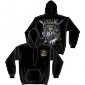 "Marines, USMC ""Never Retreat"" Sweatshirt by Erazor Bits, Black, XL"
