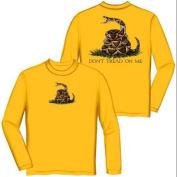 Don't Tread on Me Tea Party Long Sleeve T-shirt by Erazor Bits, Yellow, XL
