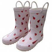 Pink Lady Bug Toddler Girls Rain Boots 10