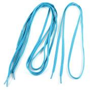 2 Pairs Leisure Shoes Lace Strings Shoelaces Turquoise Colour 115CM Long