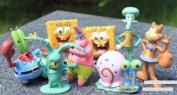 SpongeBob SquarePants Spongebob 5.1cm Figure Set of 8 Multicoloured, 1pac