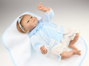 43cm Silicone Reborn New Baby Realistic Boy Girl Vinyl Dolls with Clothes and Blanket for Kids Toy Gifts
