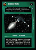 STAR WARS CCG DS DEATH STAR II CONCUSSION MISSLES 86C