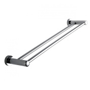 Double Towel Bar 60cm - Chrome Brass