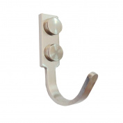 Stainless Steel H012 Single Coat and Hat Hook Robe Hook,Brushed Steel 5pcs