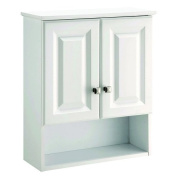 Design House 531715 Wyndham White Semi-gloss Bathroom Wall Cabinet