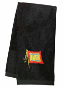 Wabash Railroad Embroidered Hand Towel Black [55]