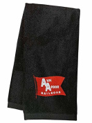 Ann Arbour Railroad Embroidered Hand Towel Black [77]