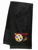AT & SF Santa Fe Chief Embroidered Hand Towel Black [42]
