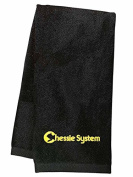 Chessie System Embroidered Hand Towel Black [35]