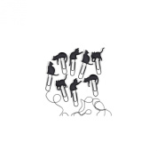 Fred & Friends CAT WALK Picture Hangers, Set of 8