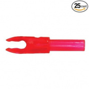 Bohning F Arrow Nocks (Easton G) Std Throat .120 Rose Red 25/Pkg