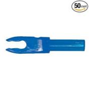 Bohning F Arrow Nocks (Easton G) Std Throat .120 Electric Blue 50/Pkg