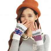 Eforstore Korean Fashion Women Ladies Girls Cold Winter Warm Knitted Crochet Half Finger Gloves Hand Wrist Mitten
