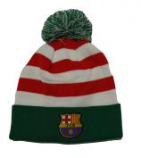 Fc Barcelona Beanie Christmas Pom Pom Skull Cap Hat Santa Hat