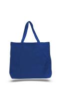 Pack of 12 - Cotton Canvas Jumbo Tote Bag- Size 50cm w X 38cm h X 13cm d