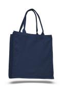 Pack of 6 - Cottom Canvas Fancy Shopper Tote Bag - Size 38cm w X 41cm h X 15cm d