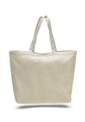 Pack of 6 - Cotton Canvas Big Tote Bag - Size 60cm w X 43cm h X 15cm d