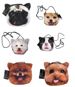 Diecut Cross Body Bag in Assorted Dog Prints, Styles Vary