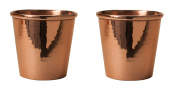 Sertodo Apa Cups, set of 2, Hammered Copper, 18 fluid ounces