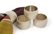 Manor Luxe Silver Metal Napkin Rings