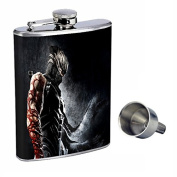 Ninja Perfection In Style 240ml Stainless Steel Whiskey Flask with Free Funnel D-002