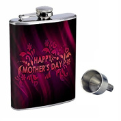 Mothers Day Perfection In Style 240ml Stainless Steel Whiskey Flask with Free Funnel D-002