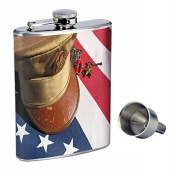 Memoria lDay Perfection In Style 240ml Stainless Steel Whiskey Flask with Free Funnel D-004