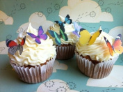 Edible Butterflies © - Small Assorted Set of 24 - Cake and Cupcake Toppers, Decoration