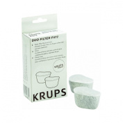 KRUPS F47200 Duo Filters Water Filtration System for KRUPS Coffee Makers, 2-Pack