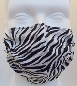 Zebra Print Dust & Allergy Face Mask by Breathe Healthy - Comfortable, Reusable Protection from Dust, Pollen, Allergens, & Flu Germs with Antimicrobial