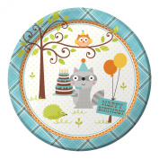 Creative Converting 8 Count Paper Dinner Plates, Happi Woodland-Boy