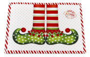 "Carnation Home Fashions ""Elf Shoes"" Holiday Placemat, Set of 4"