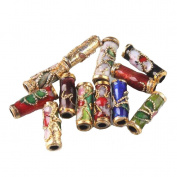Colourful Flower Tube Enamel Cloisonne Beads Fit Jewellery Making