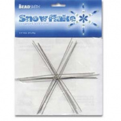 Metal Wire Snowflake Forms - Fun Craft Beading Project 15cm