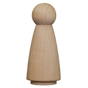 Wood Doll Bodies - Woman 7.6cm - 1.3cm - Bag of 50