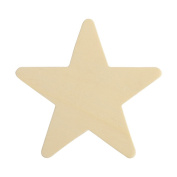 10cm Wooden Star, Natural Unfinished Wooden Star Cutout Shape (10cm ) - Bag of 25