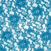 Sky Blue Raschel Lace Fabric - Sold By The Yard