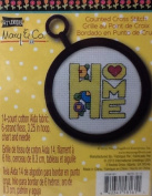 "Studio 18 Mary & Co. Counted Cross Stitch "" Home "" 14 Count Cotton Aida Fabric"