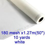 10 Yards 180 Mesh 130cm (1.27m) Width Silk Screen Printing (10 yards 180 mesh
