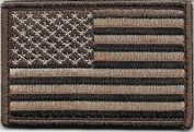 Woodland Brown Tactical American Flag Velcro Backed Patch