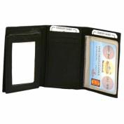 Luxury Divas Trifold Black Classic Leather Men's Deluxe Wallet