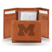 Michigan Wolverines Official NCAA One Size Leather Trifold Wallet by Rico Industries