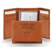 Chicago Bulls Official NBA One Size Leather Trifold Wallet by Rico Industries