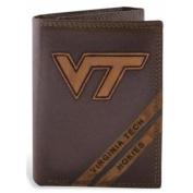 ZeppelinProducts VAT-IWD2-BRW Virginia Tech Trifold Debossed Leather Wallet