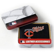 MLB - Men's Minnesota Twins Embroidered Trifold Wallet
