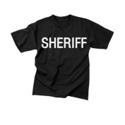Sheriff Black Official Issue Double-Sided Raid T-Shirts - Size 3XL